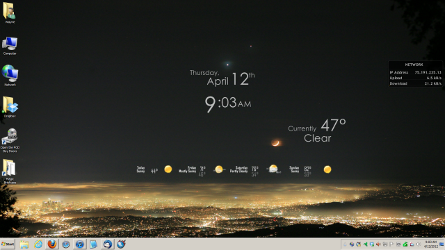Screenshot of my Win 7 desktop